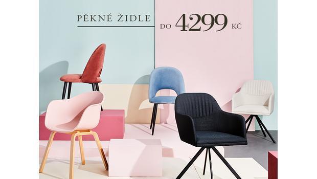 Pěkné židle do 4299 Kč