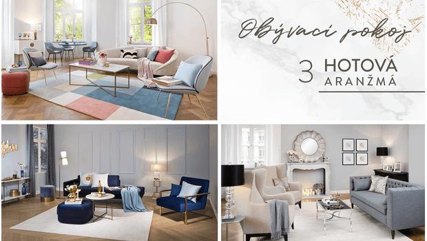 Obývací pokoj ve 3 stylech