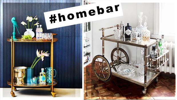Domácí bar ve dvou stylizacích