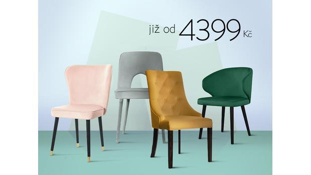 Krásné židle od 4399 Kč