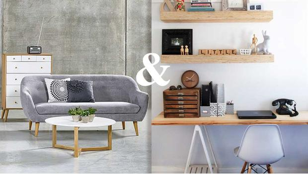 Obývací pokoj a kancelář
