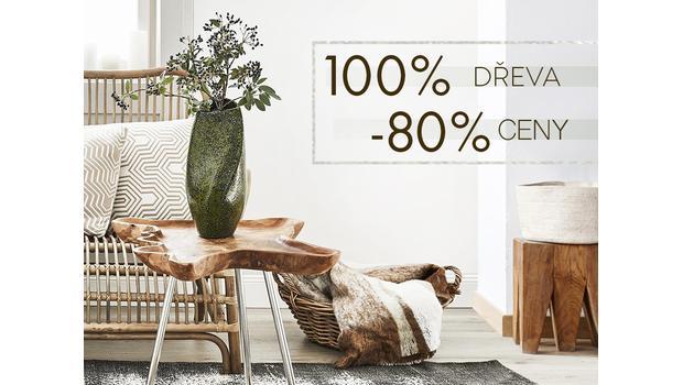 Dřevěný nábytek až -80 %