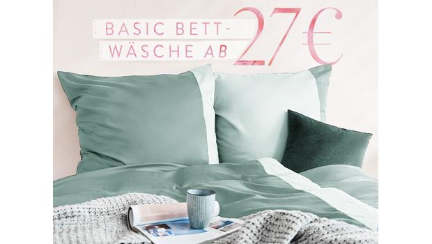 Basic-Bettwäsche ab 27 €
