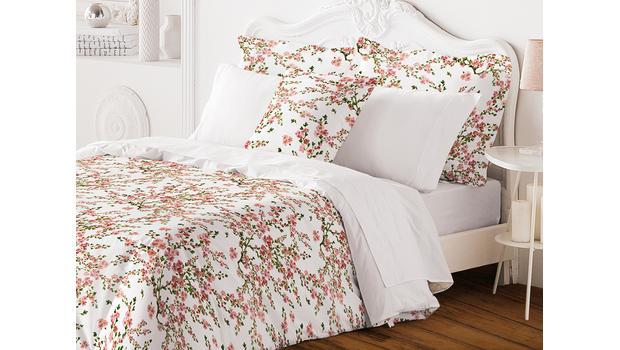 Florale Bettwäsche