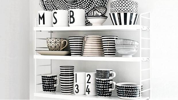 Küche in Schwarz-Weiß