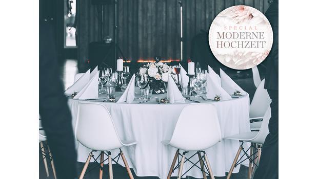 Hochzeit im modernen Stil
