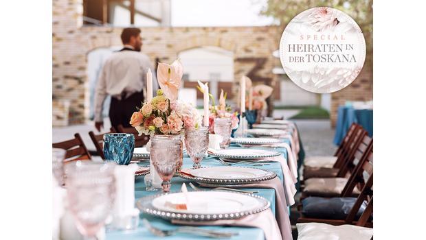 Mediterrane Vintage-Hochzeit