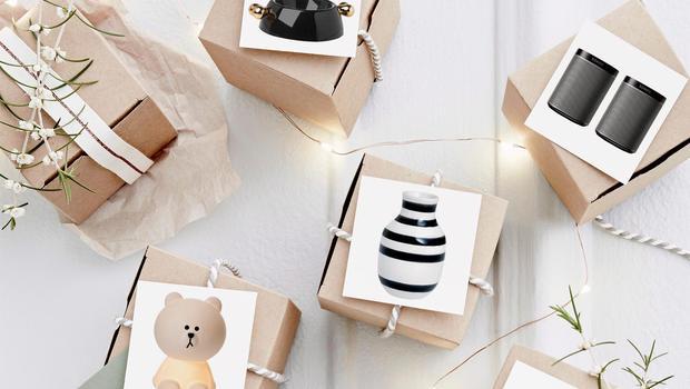 Geschenke in Schwarz & Weiß