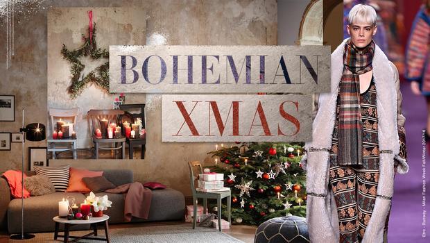Weihnachtliches Boho-Flair