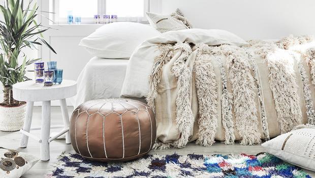 Relaxtes Boho-Schlafzimmer