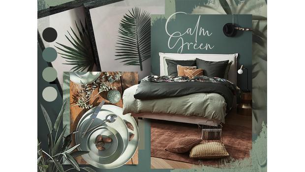 Entspanntes Interior in Grün