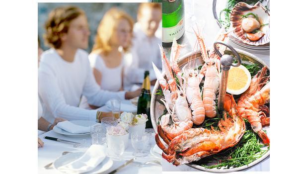 Französische Seafood-Küche