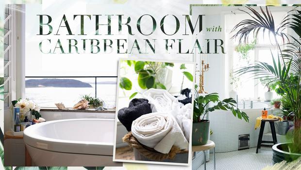 Karibik-Flair fürs Bad Mit Holz-Elementen & grünen Akzenten | Westwing