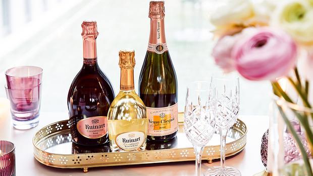 Prickelnde Sommer-Champagner