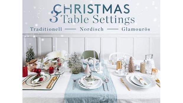 3 Weihnachtstafel-Looks