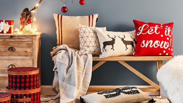 Weihnachtliche Wohn-Textilien