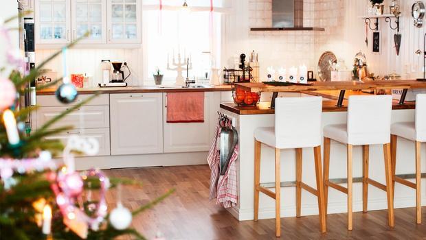 Weihnachtsflair in der Küche
