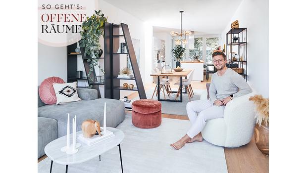Offene Wohnbereiche stylen