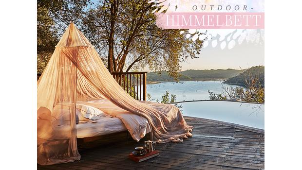 Outdoor-Trend: Himmelbett
