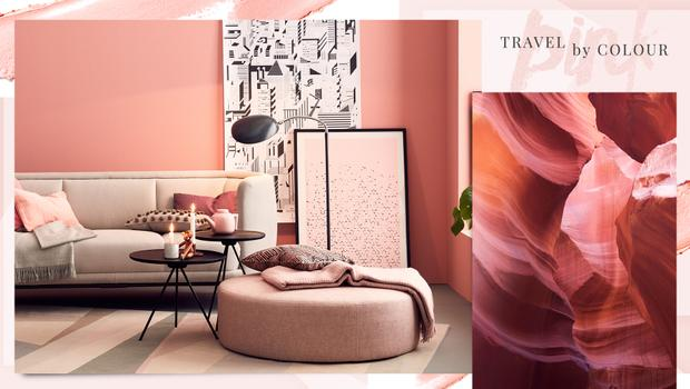 Fernweh-Farbe: Pink