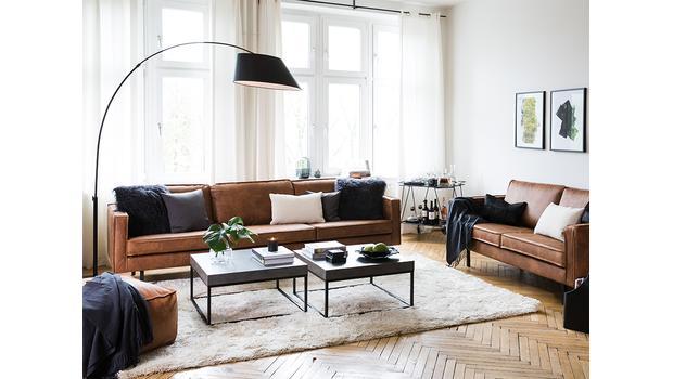 Sofas im markanten Leder-Look