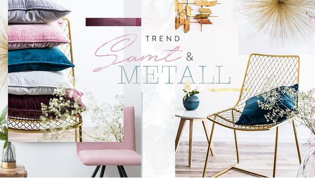 Trend-Watch: Samt & Metallic