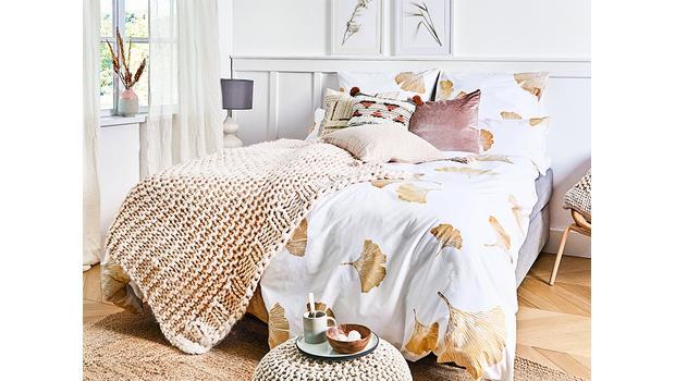 Natürlich Schöne Bettwäsche Inspiriert Von Ginkgo Koralle Co