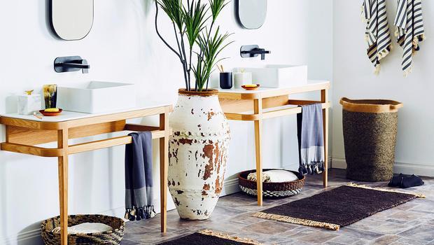Moderne Naturlichkeit Im Bad Mit Holz Naturstein Cleanen Formen