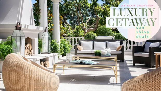 Glamouröses Garten-Styling