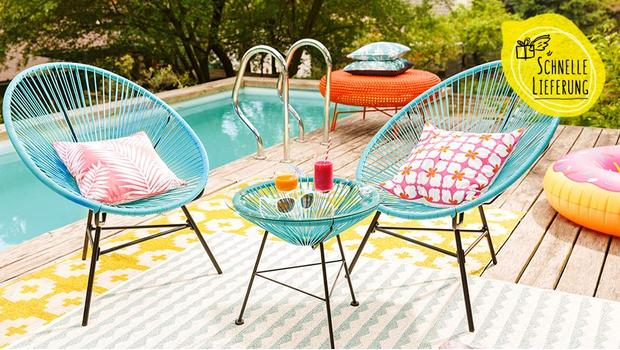 Möbel für die Outdoor-Oase