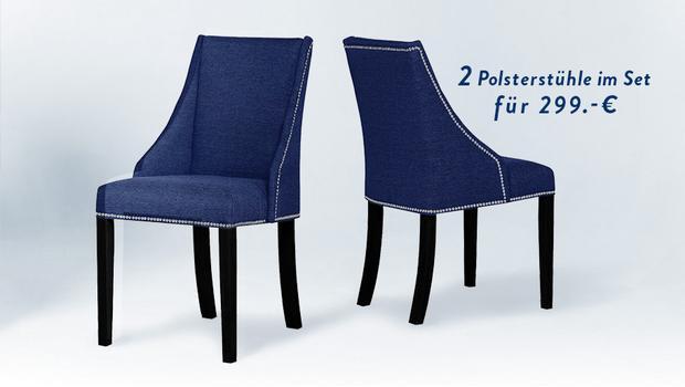 Elegante Polsterstuhl-Sets