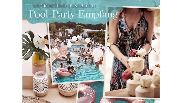 Pool-Party im Tropical-Style