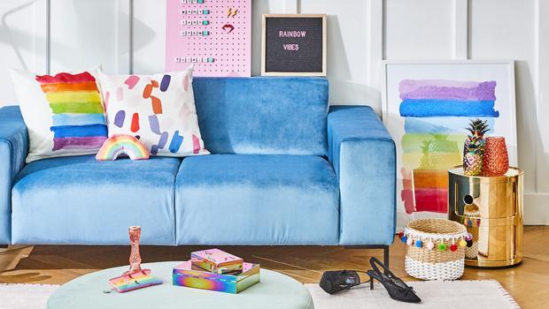 Regenbogenfarben fürs Interior