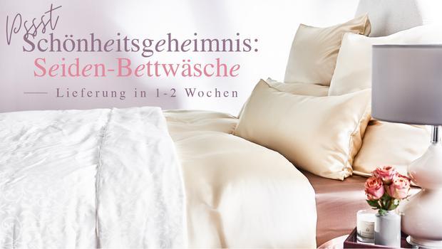 Schönheitsgeheimnis Seide Bettwäsche Bettdecken Deluxe Westwing