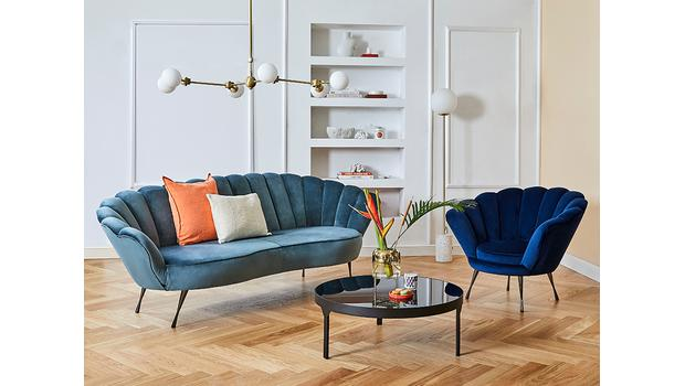 Sofas & Sessel in Muschelform