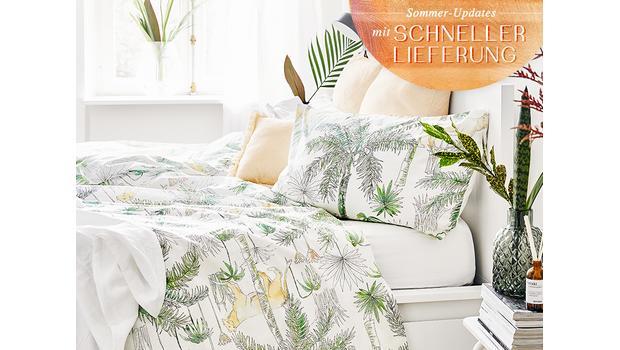 Bettwäsche in Sommer-Farben