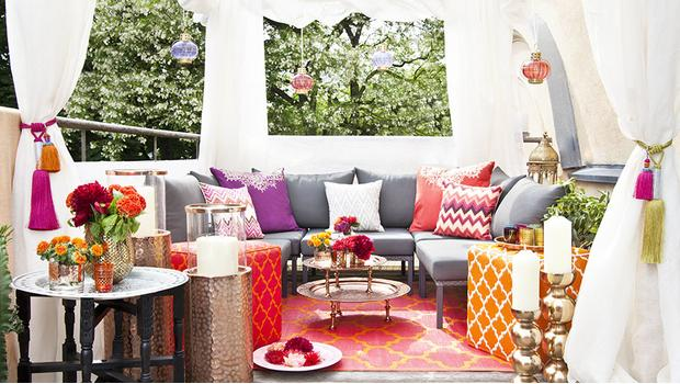 Orientalische Outdoor-Lounge