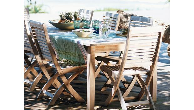 Outdoor-Möbel aus Teak