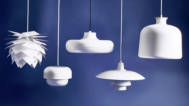 Leuchten in Weiß