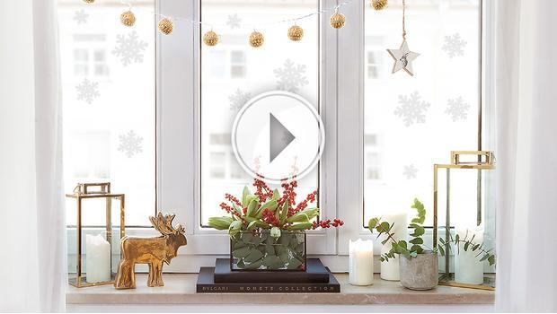 Weihnacht auf dem Fensterbrett