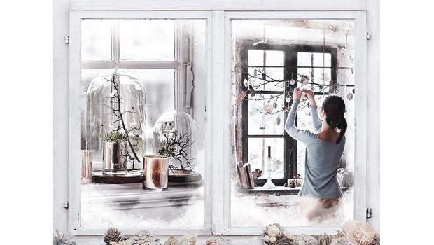 Weihnachtsflair fürs Fenster