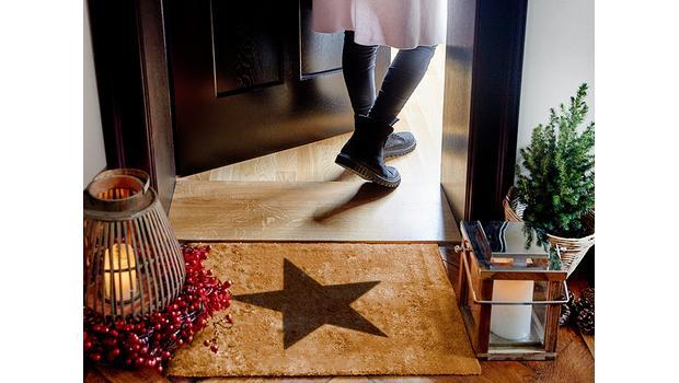 Weihnachtliche Fußmatten