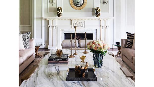 Wohnen in Marmor, Gold & Weiß