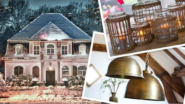 Ein Landhaus im Winter