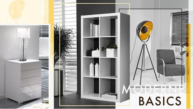 Moderne Wohnbasics