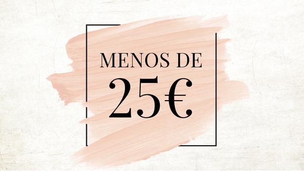 Menos de 25€