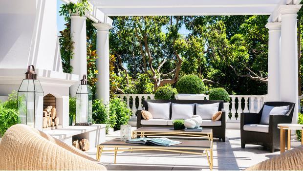 Un porche moderno