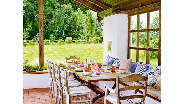 Comer en la terraza