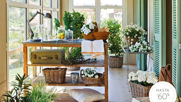 Accesorios para un jardín interior