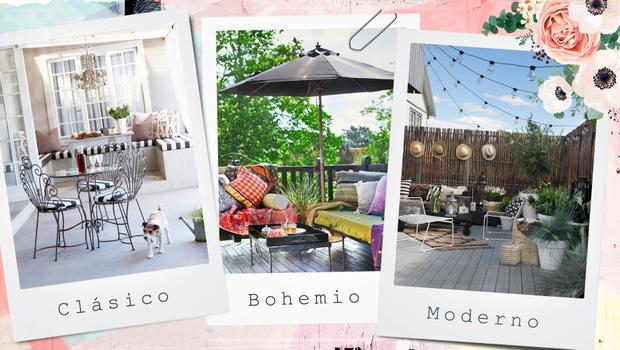 3 terrazas, 3 estilos